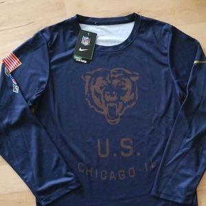 Chicago Bears NFL salute to service Nike shirt